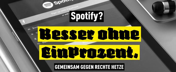 Kein Platz für Neonazi-Propaganda auf Spotify!