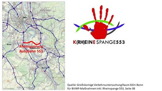 KEINE neue Autobahn im Kölner Süden –  NEIN zur Rheinspange A 553