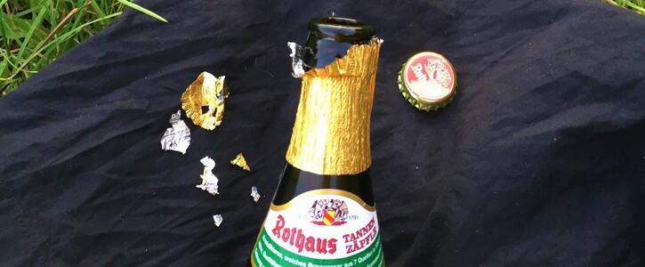 Kein Alukragen an Bierflaschen der staatseigenen Brauerei Rothaus