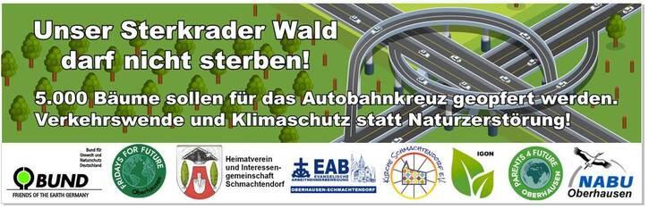 Erhalt des Sterkrader Waldes! Verkehrswende statt Naturzerstörung!