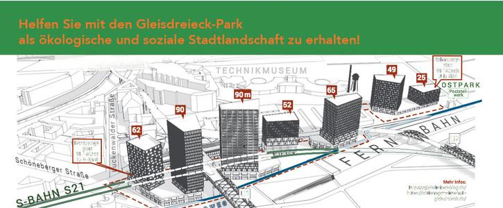 Gewerbe-Areal mitten im Gleisdreieck-Park verhindern