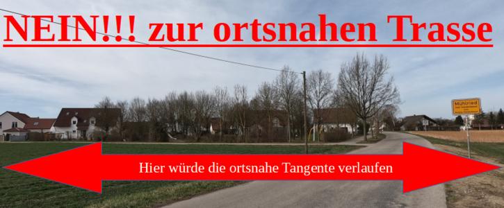 Stopp! Keine ortsnahe Ostumgehung in Schrobenhausen/Mühlried