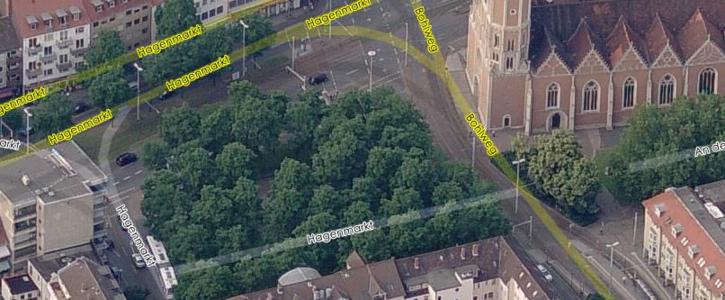 Hagenmarkt grün lassen - Robinien erhalten!
