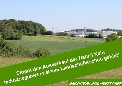 Landschaftsschutzgebiet schützen!