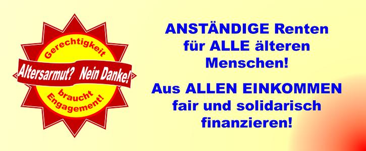 Generationengerechtigkeit wieder herstellen - Die gesetzliche Rente solidarisch finanzieren!