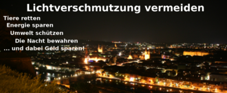 Lichtverschmutzung vermeiden, Energie sparen, die Nacht bewahren