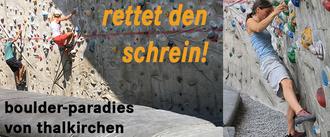"""Rettet das Boulder-Paradies """"Der Schrein"""" im Freien von München Thalkirchen!"""