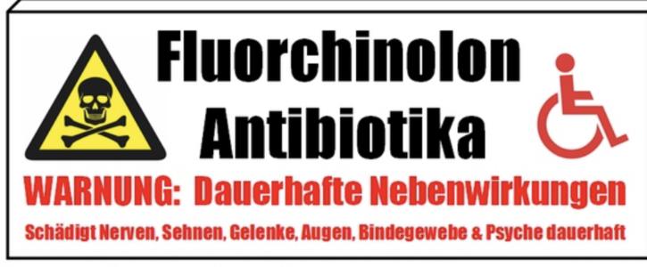 Langzeitschäden durch Fluorchinolone - gängige Antibiotika mit irreversiblen Nebenwirkungen