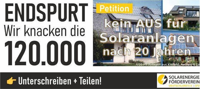 Kein AUS für Solaranlagen nach 20 Jahren
