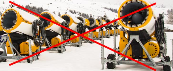 Verbot von Schneekanonen
